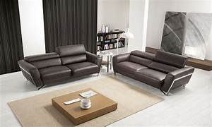 canape cuir itaca nicoletti 2 3 places home center With canapé home center