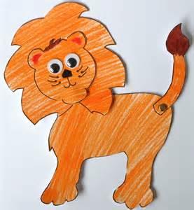 Lion Puppet Craft Template