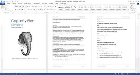 capacity plan template ms word templates forms