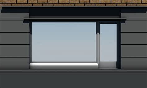 shop front window empty templates vol