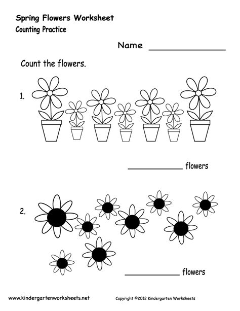 crafts actvities and worksheets for preschool toddler and 729 | spring flowers worksheet printable
