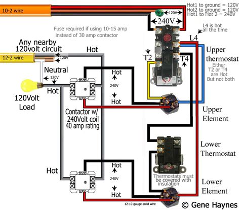 heating elements wiring in parallel diagram for 240v 52