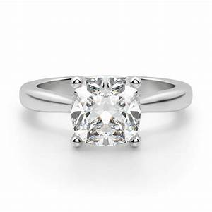 Montreal cushion cut engagement ring engagement rings for Cushion cut engagement rings with wedding band