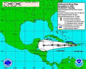 Hurricane Map Tracking Tropical Storm