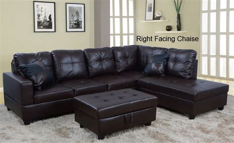 hton leather reversible sectional and storage ottoman low profile espresso faux leather sectional sofa w right