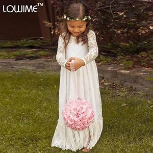 aliexpresscom buy 2015 long sleeve communion flowergirl With robe longue pour enfant