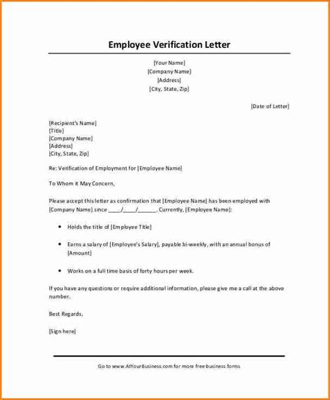 employee verification letter 5 employment verification letter with salary simple 7974