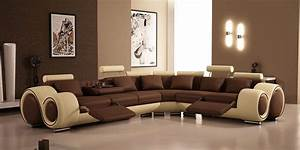 Modern brown sofa design for living room felmiatikacom for Sectional couch living room layout