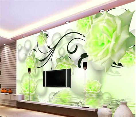 wallpaper ruang tamu tema hijau desainrumahidcom