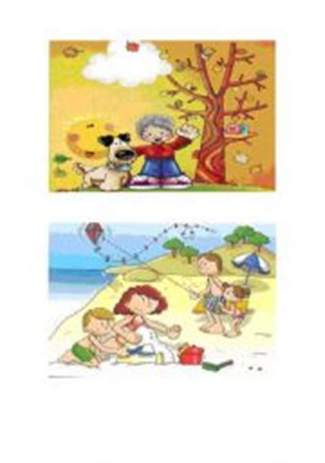 English Worksheet 4 Seasons Flashcards