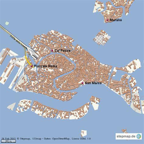 venedig von hajofrank landkarte fuer die welt