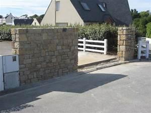 Mur En Moellon : mur de cl ture en mo llon du pays pl constructions ~ Dallasstarsshop.com Idées de Décoration