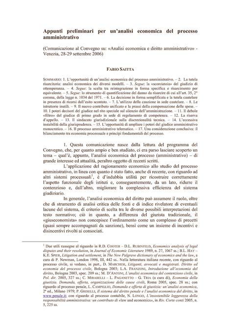diritto amministrativo dispense analisi economica processo amministrativo dispense