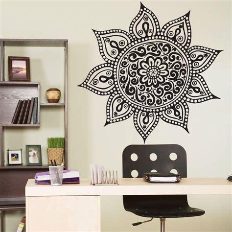 home decor wall stickers mandala om indian buddha symbol mehndi vinyl wall decal home decor wall sticker in wall