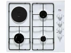 Plaque A Gaz Pas Cher : table de cuisson mixte 4 foyers far tmsa40b 13 far vente de plaque de cuisson conforama ~ Voncanada.com Idées de Décoration