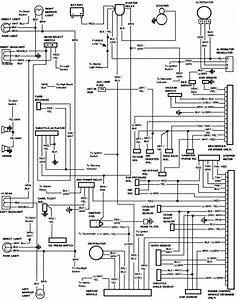 1982 Ford Bronco Original Electrical Wiring Diagram