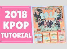 【KPOP DIY】 BTS 2018 Calendar Tutorial ♥! EngEsp YouTube