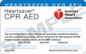 san jose american heart association blog With cpr card template