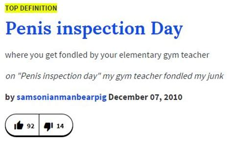 Define Meme Urban Dictionary - urban dictionary definition penis inspection day know your meme