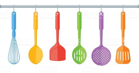 colored kitchen utensils colorful plastic kitchen utensils isolated on white 2332