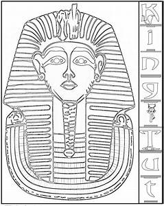 Cleopatra clipart cleopatra coloring pages pencil and in for King tut mask template