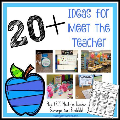20 fantastic easy ideas for meet the teacher night
