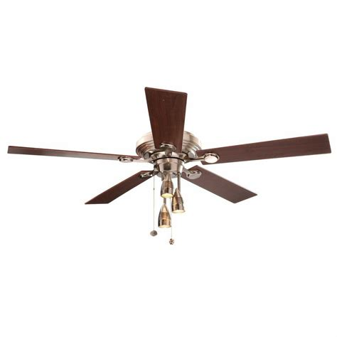 Hton Bay Ceiling Fan Wall Manual by Hton Bay Irondale 52 In Brushed Nickel Ceiling Fan