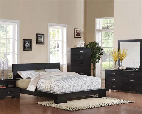 contemporary bedroom set london black  acme furniture