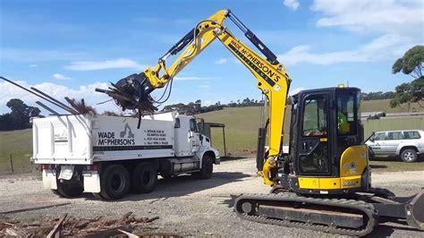 eiengineering excavator hydraulic grapple youtube