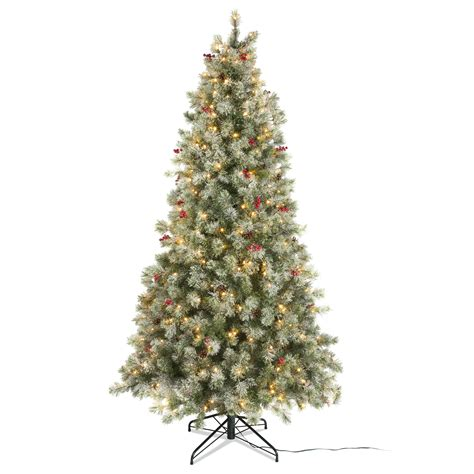 b and q artificial christmas trees 7ft 6in fairview pre lit led tree departments diy at b q