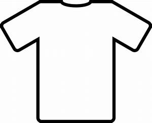 White Shirt Black Outline Clip Art at Clker.com - vector ...