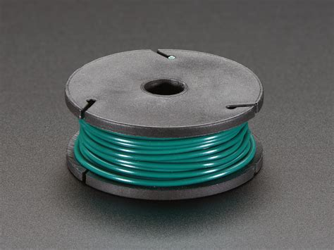 solid core wire spool ft awg green id