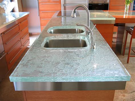 glass kitchen countertops kitchen ideas