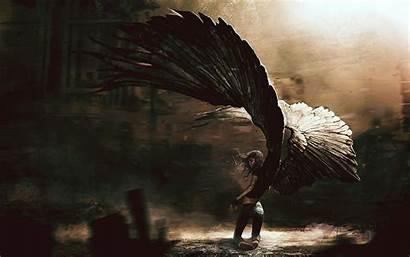 Angel Fallen Wings Background Dark Anime Wallpapers