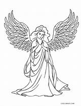 Angel Coloring Pages Printable Adults Cool2bkids sketch template