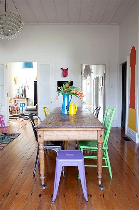 17 best ideas about mismatched dining chairs on