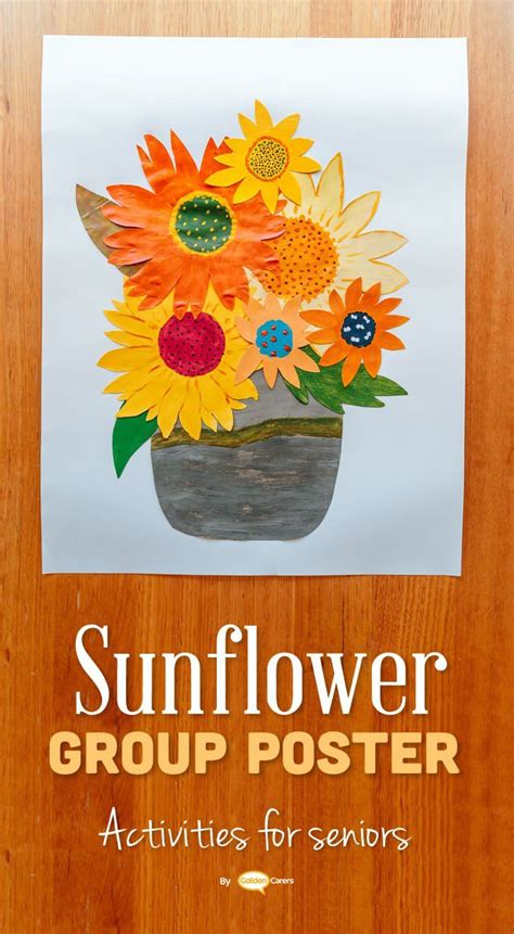 sunflowers poster group activity sunflower crafts