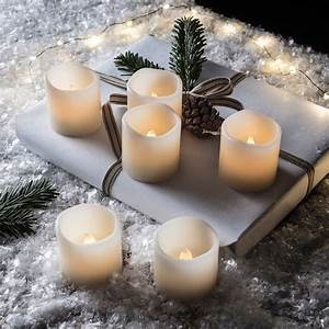 Set, Of, Six, Votive, Battery, Led, Candles, By, Lights4fun