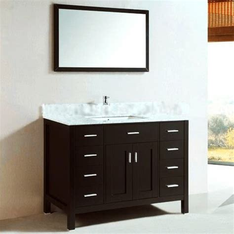 Kokols Modern Bathroom Vanity by Kokols 48 Quot Single Bathroom Vanity Set Ii With Mirror