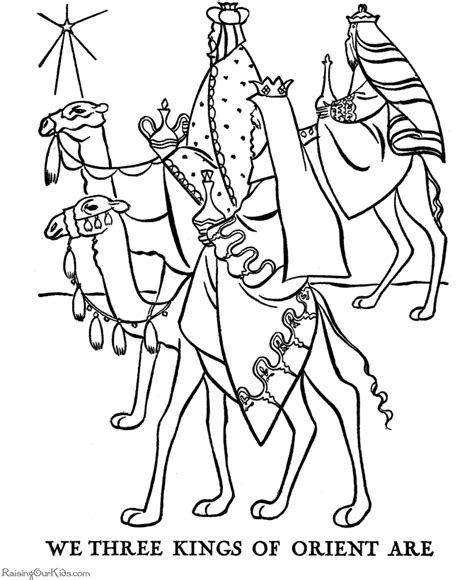 The Christmas Story coloring pages   Three Wisemen!