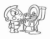 Colorear Dibujos Toilettes Coloring Dans Enfants Coloriage Dibujo Toilet Colorare Colorier Boy Sanitarios Coloringcrew Disegno Nino Pintar Vater Acolore sketch template