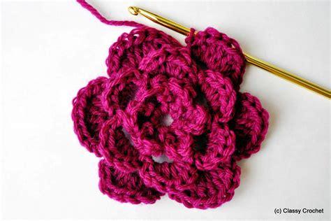 basic crochet flower classy crochet