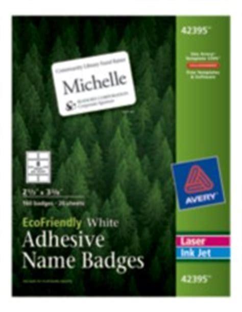 avery printable ecofriendly adhesive  badges