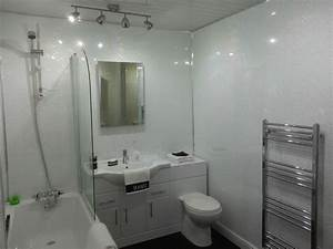 6 white sparkle gloss plastic cladding panels bathroom With pvc sheets for bathroom walls
