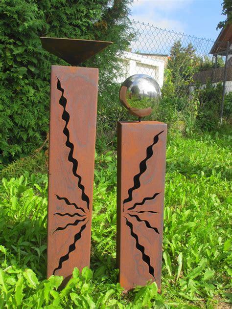 Gartendeko Rot by Gartendeko Shop Rost S 228 Ulen 80 Cm 60cm Mit Vogeltr 228 Nke