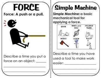 simple machines book with definitions descriptions