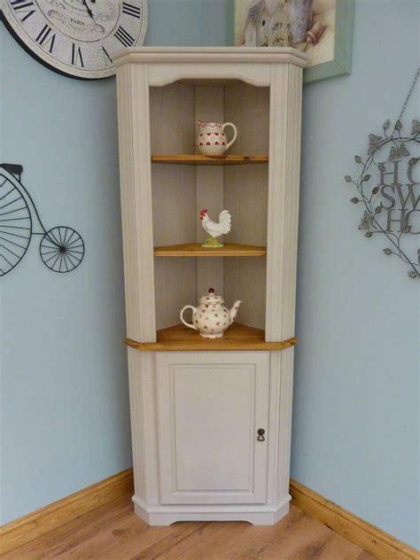 shabby chic corner shelves beautiful painted shabby chic pine corner unit storage shelves cabinet dresser corner unit