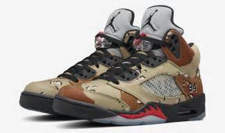 "Supreme x Nike Air Jordan V 5 Retro ""Camo"" | KickBackz"