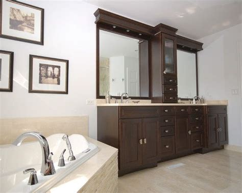double vanity with center tower bathroom master bath
