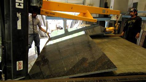 forklift lifting granite slab 2